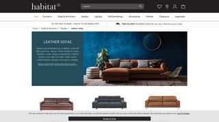 Habitat Leather Sofas