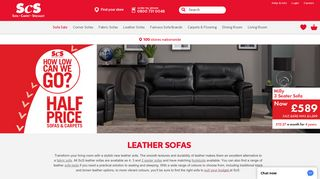 SCS Leather Sofas